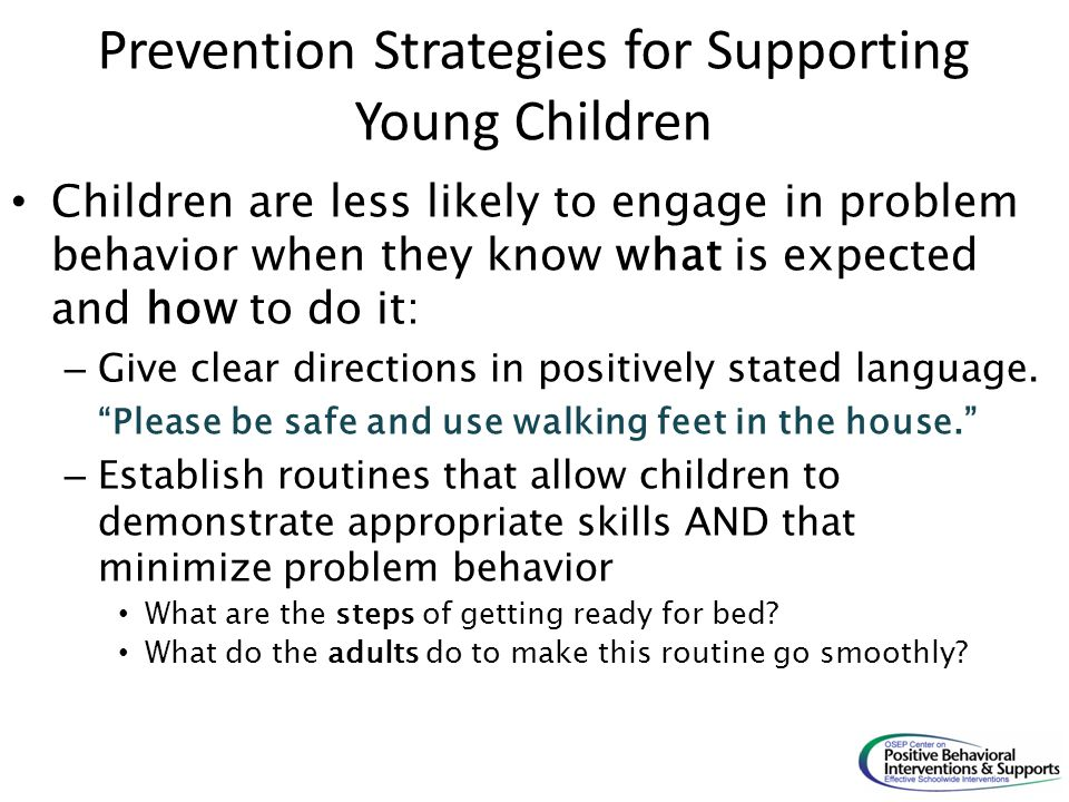 Prevention Strategies for Supporting Young Children