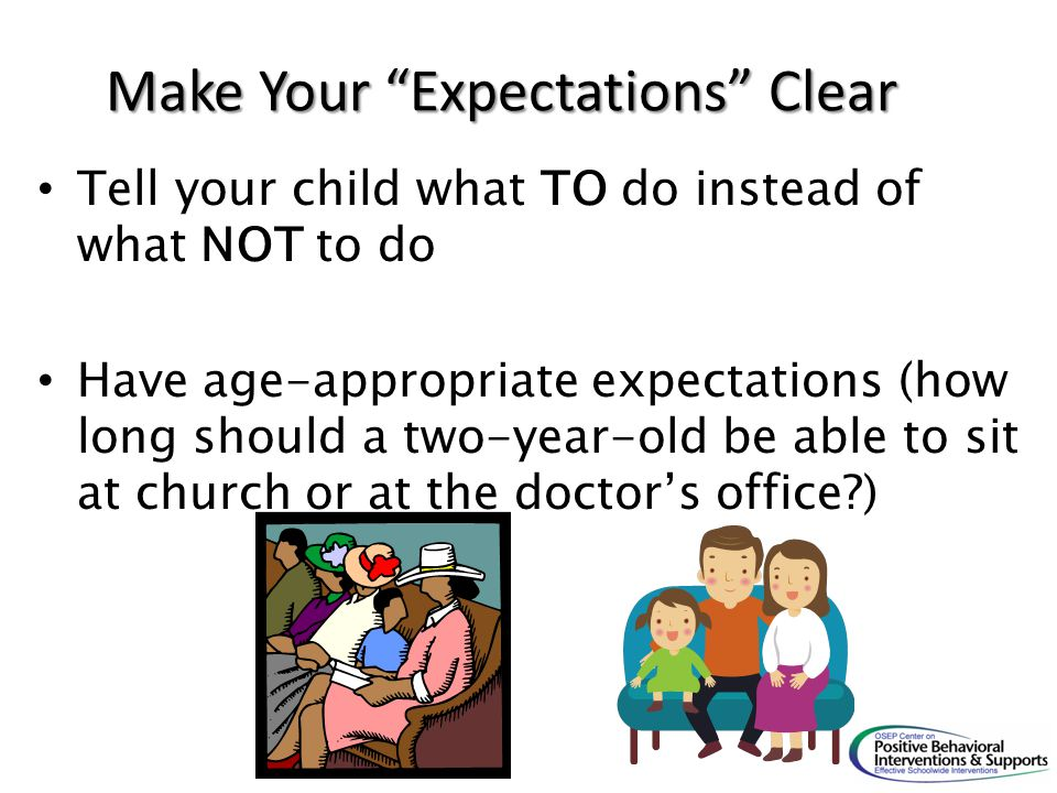 Make Your Expectations Clear