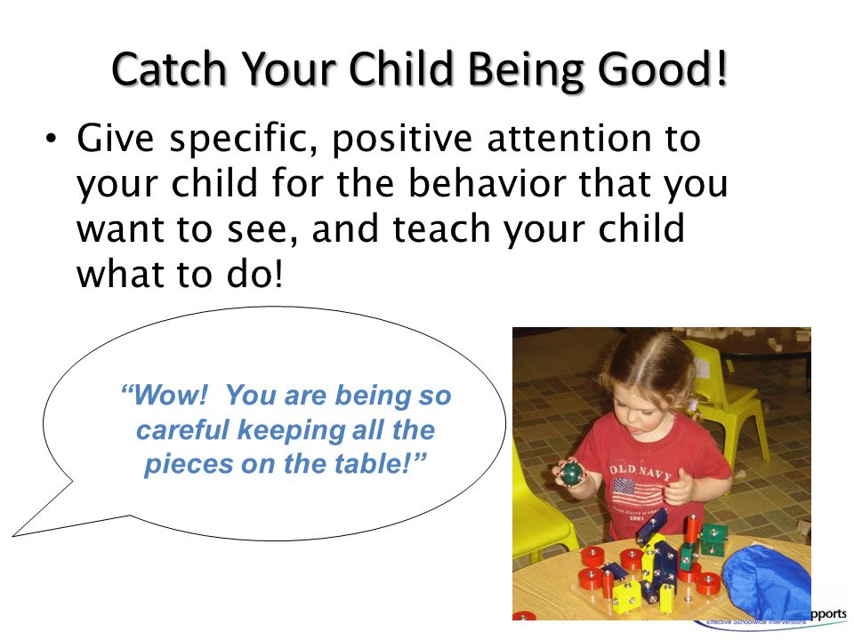 Catch Your Child Being Good!