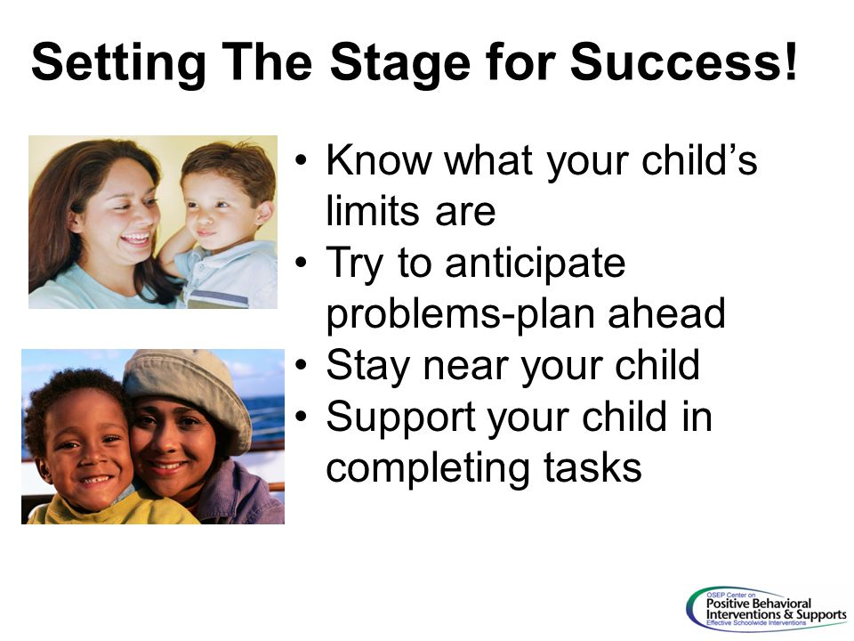 Setting The Stage for Success!