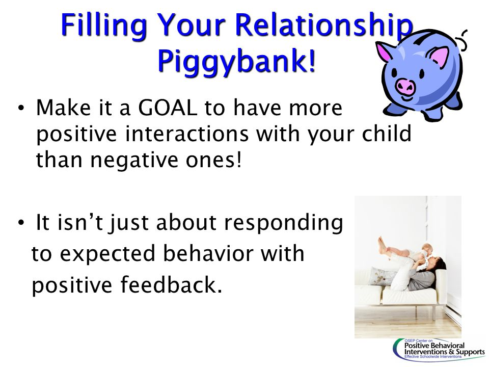 Filling Your Relationship Piggybank!