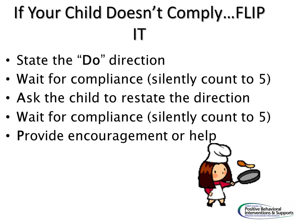 If Your Child Doesn't Comply…FLIP IT