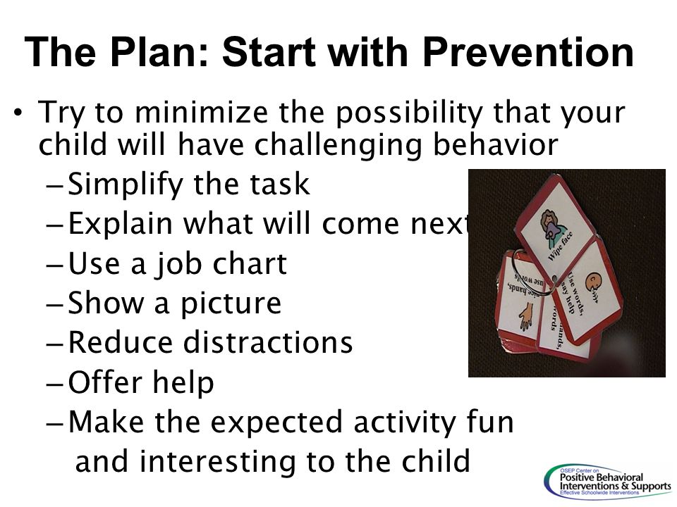 The Plan: Start with Prevention
