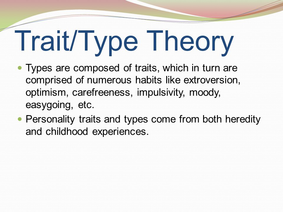 Trait/Type Theory