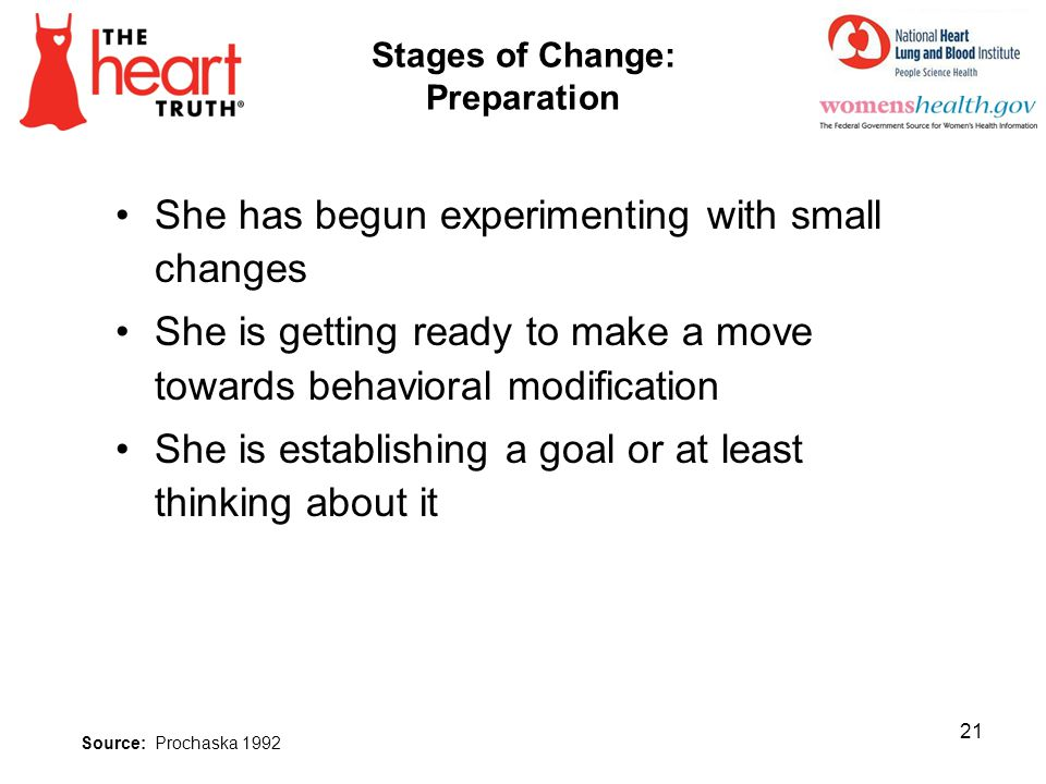 Stages of Change: Preparation