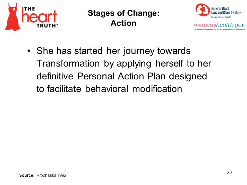 Stages of Change: Action