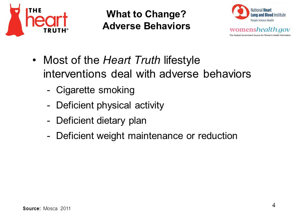 What to Change Adverse Behaviors