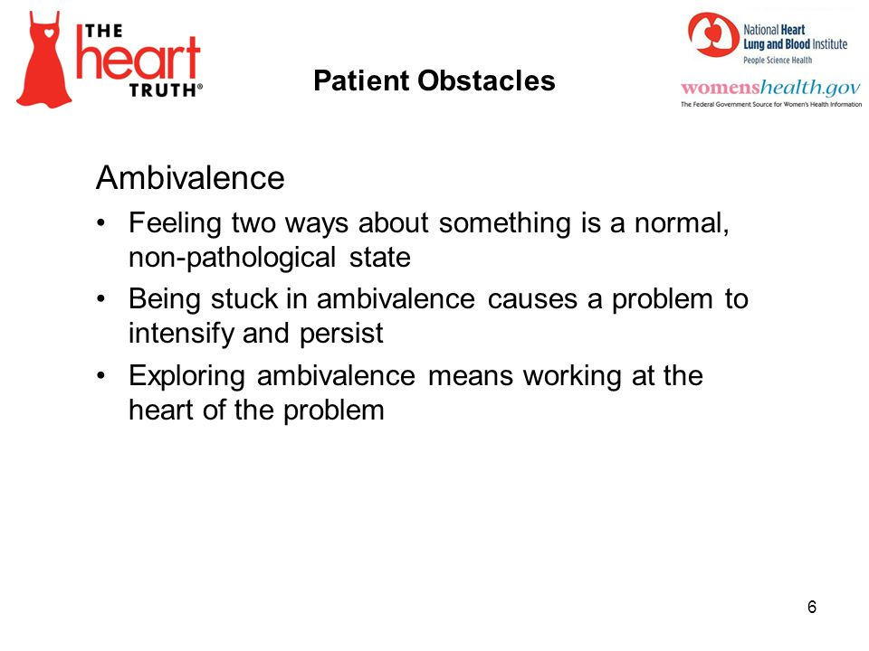 Ambivalence Patient Obstacles