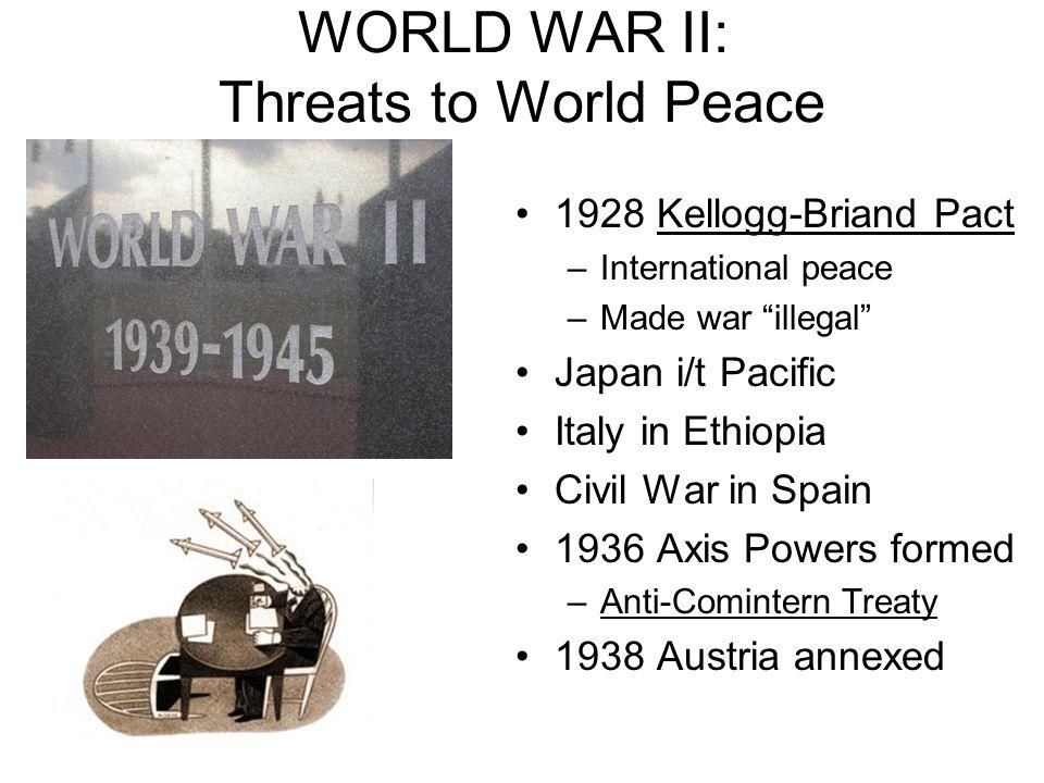 WORLD WAR II: Threats to World Peace
