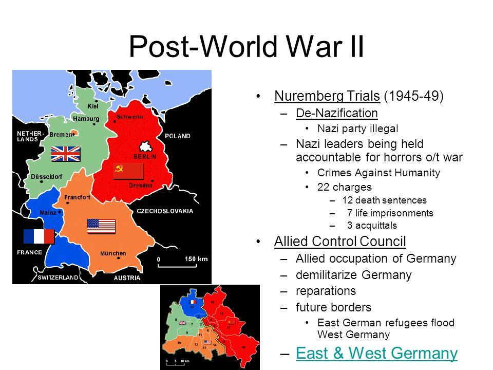 Post-World War II East & West Germany Nuremberg Trials (1945-49)