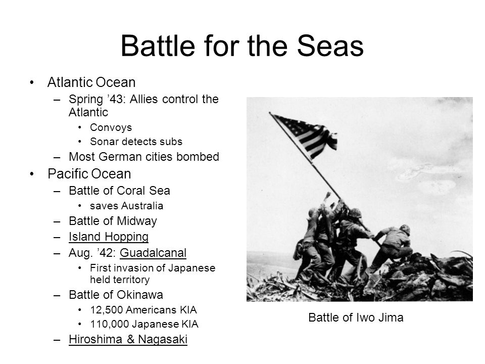Battle for the Seas Atlantic Ocean Pacific Ocean