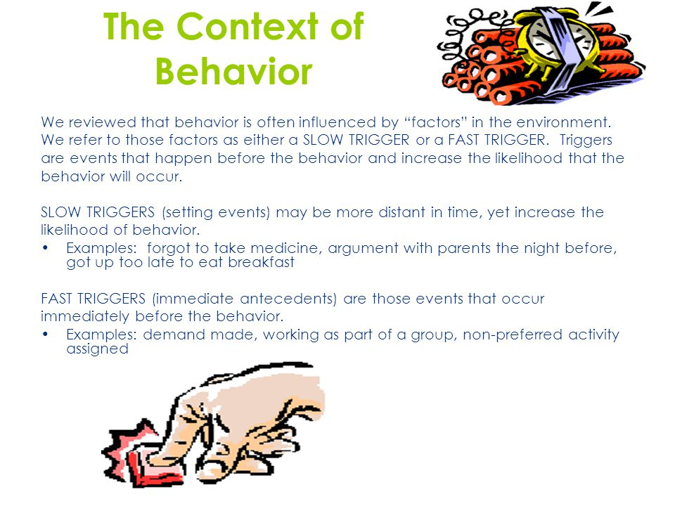 The Context of Behavior