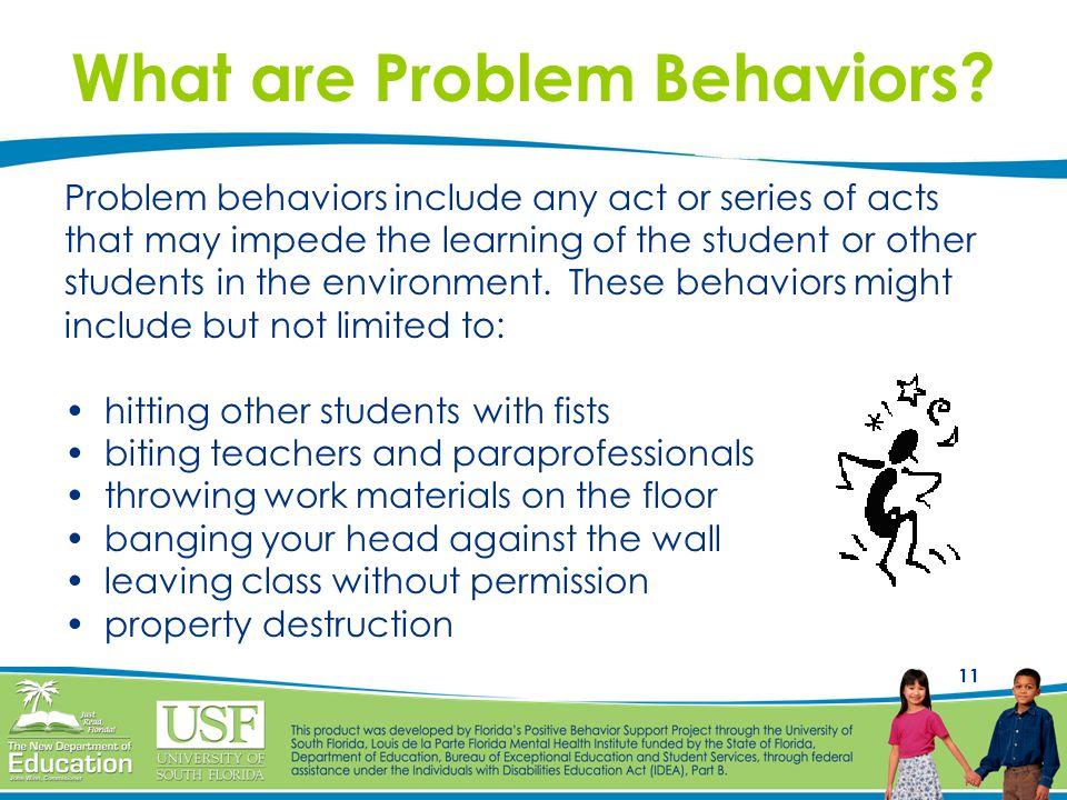 What are Problem Behaviors