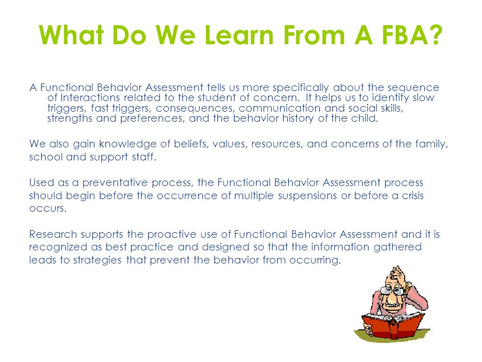 What Do We Learn From A FBA