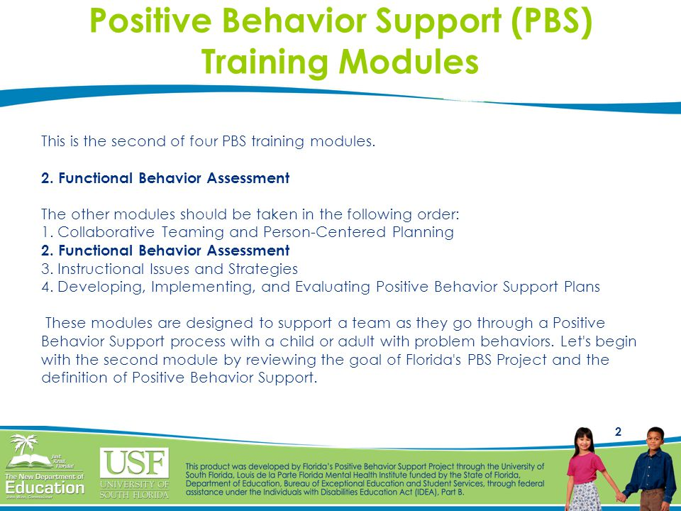 Positive Behavior Support (PBS) Training Modules
