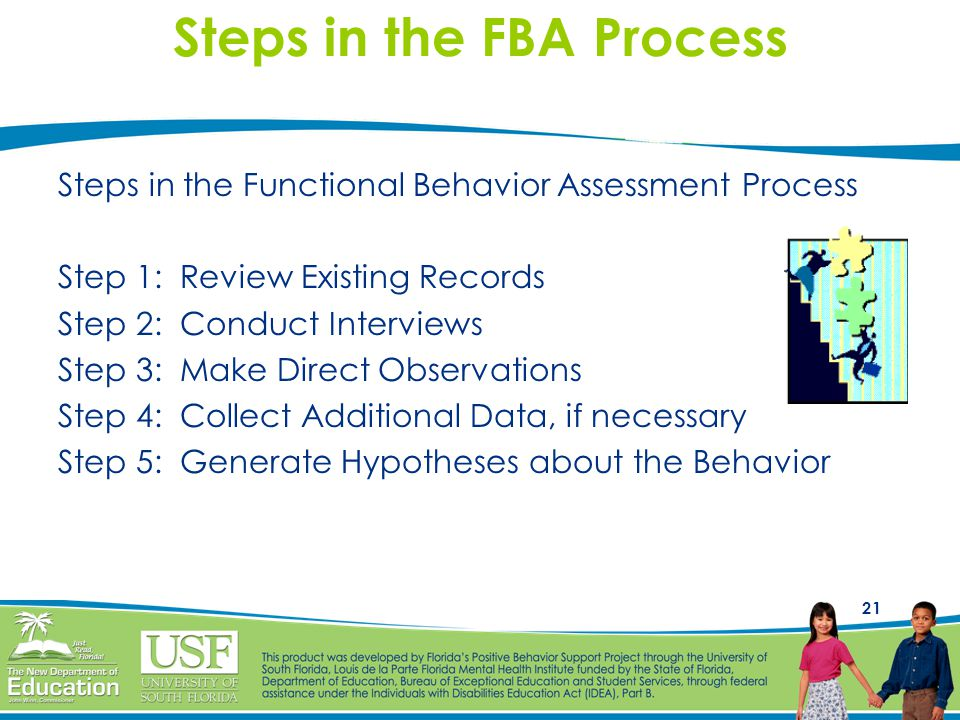 Steps in the FBA Process