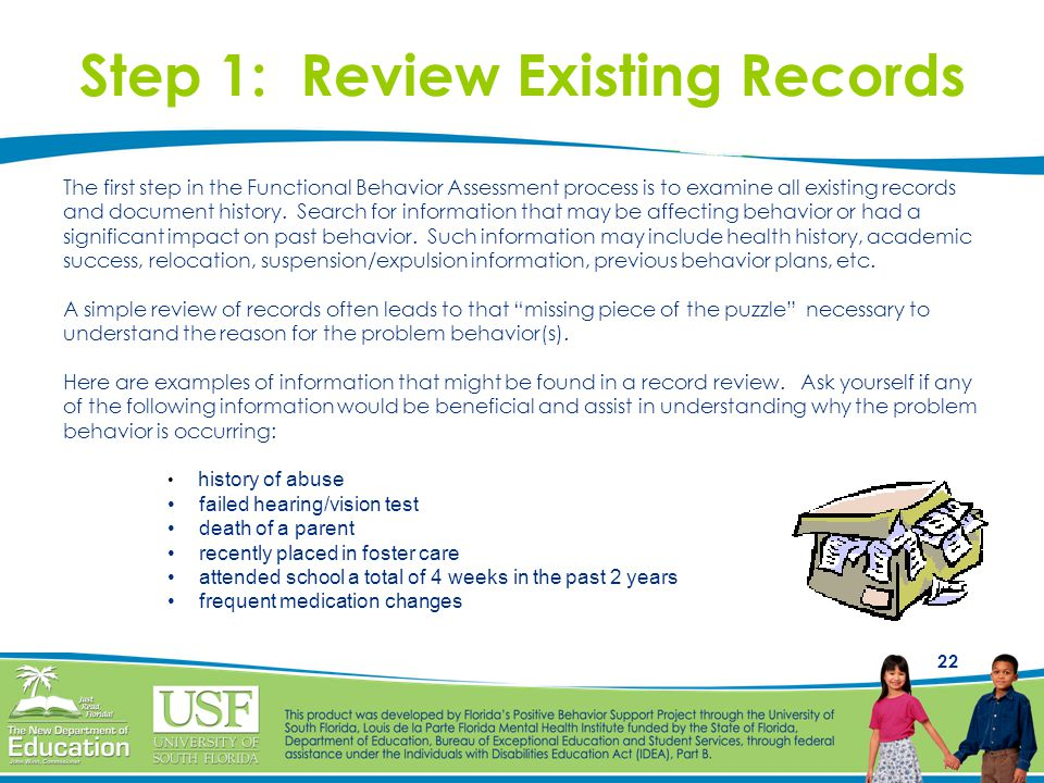 Step 1: Review Existing Records