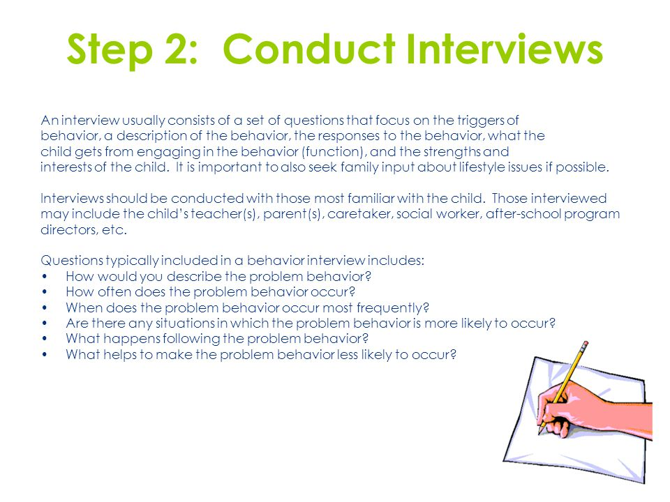 Step 2: Conduct Interviews
