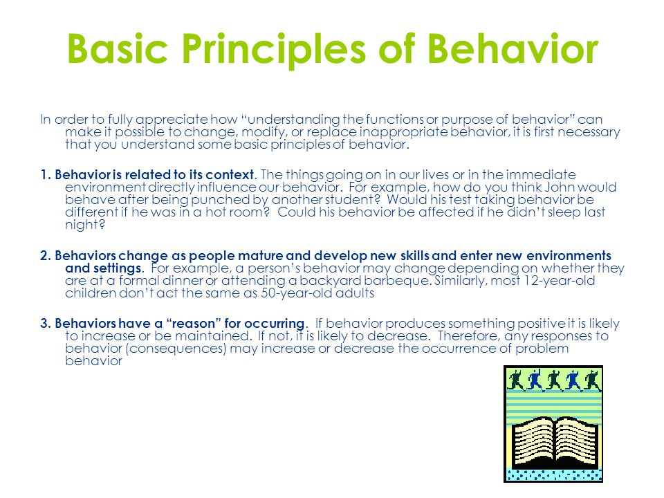 Basic Principles of Behavior