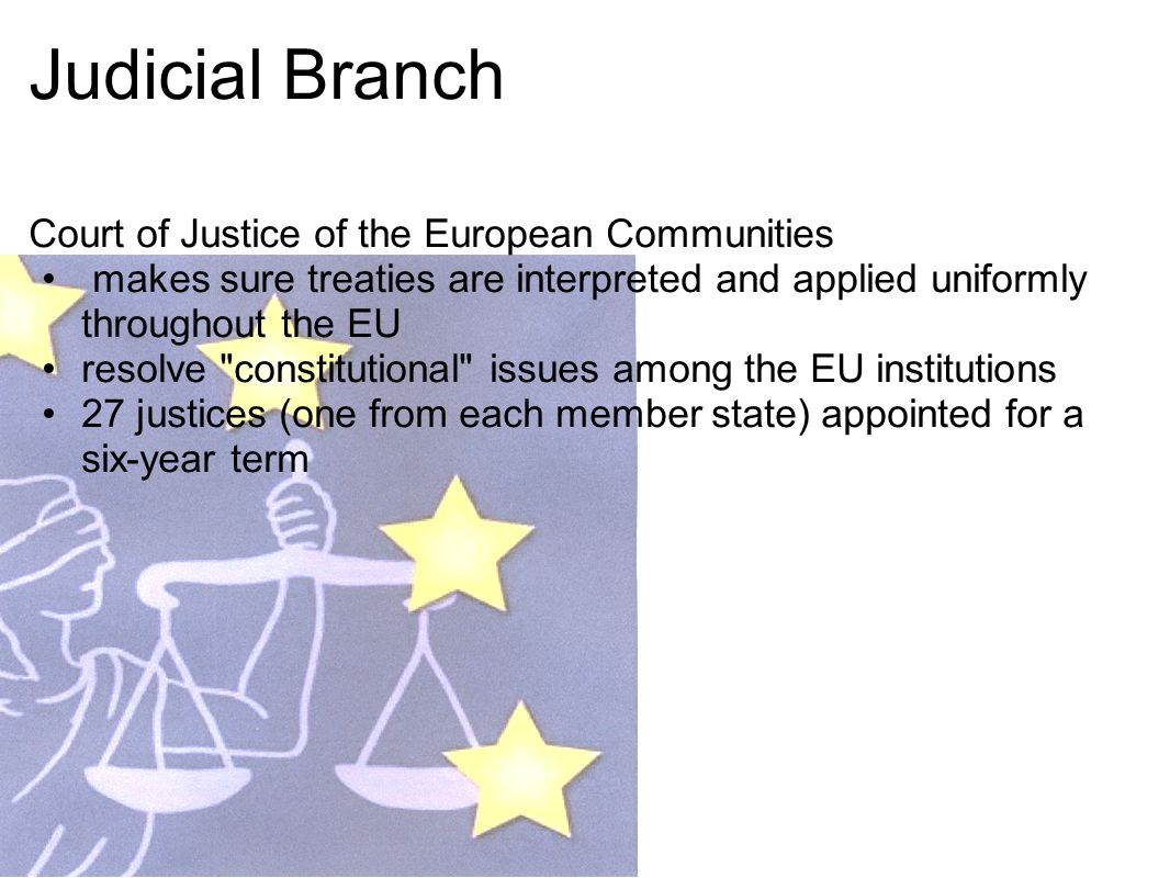 Judicial Branch Court of Justice of the European Communities