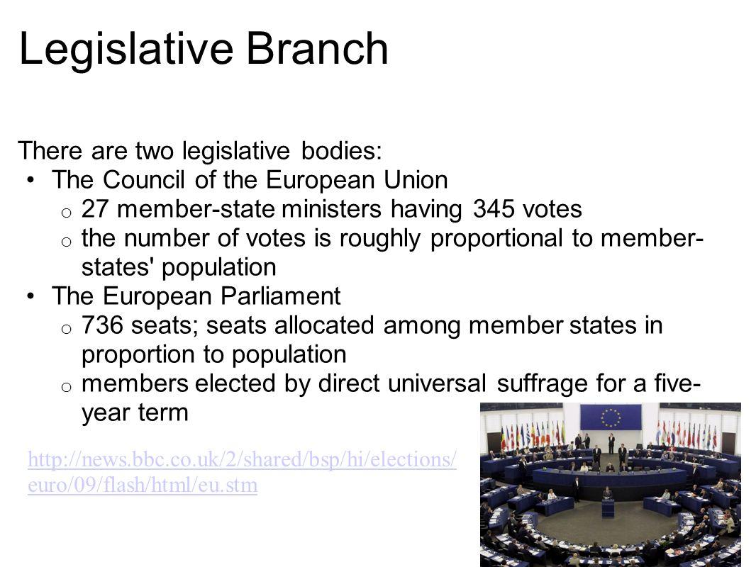 Legislative Branch There are two legislative bodies: