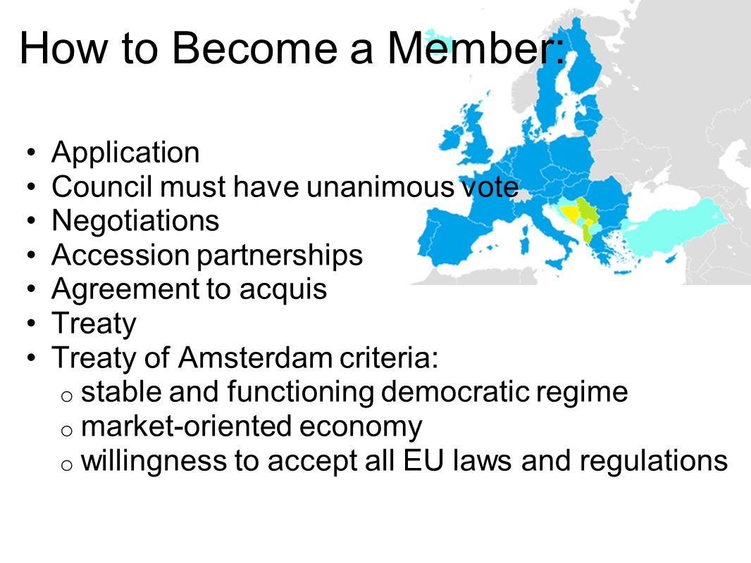 How to Become a Member: Application Council must have unanimous vote