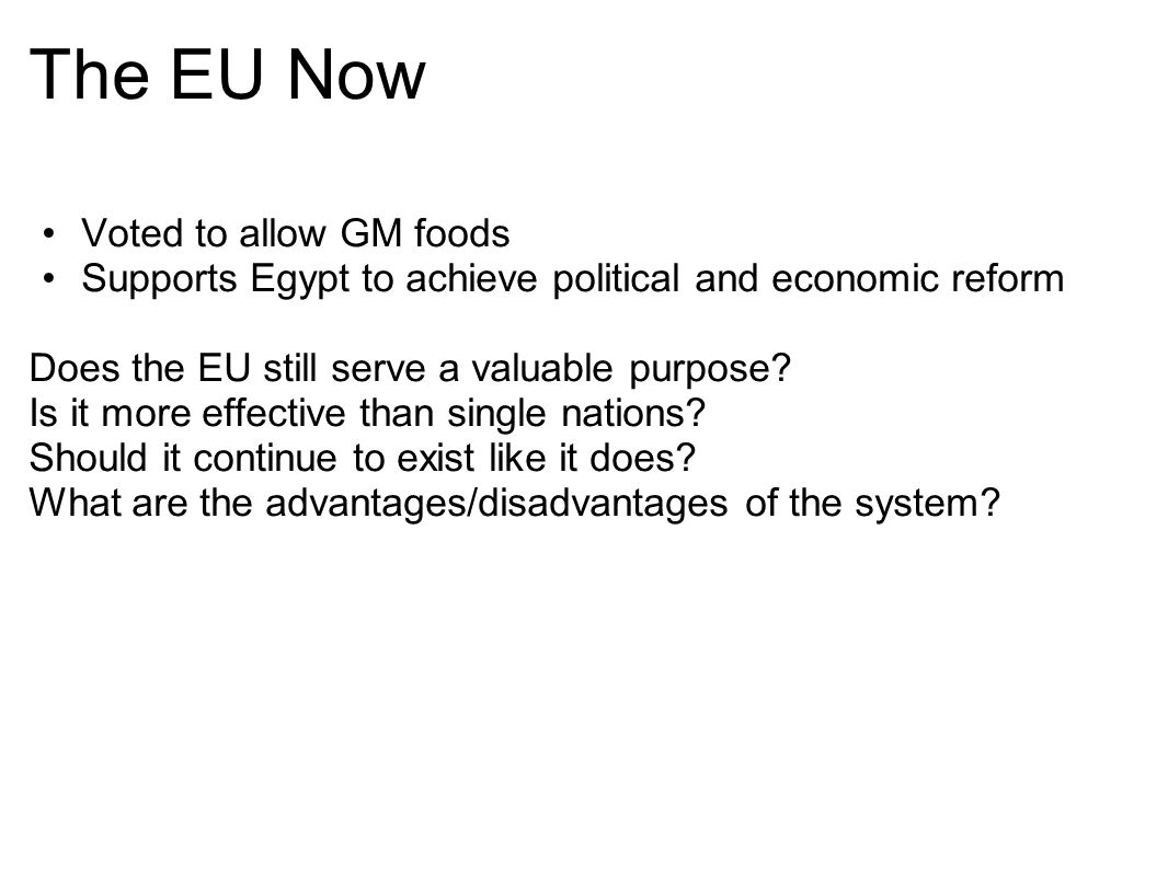 The EU Now Voted to allow GM foods
