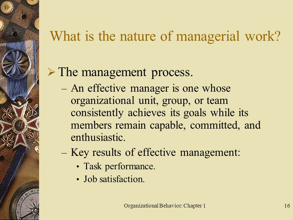 What is the nature of managerial work