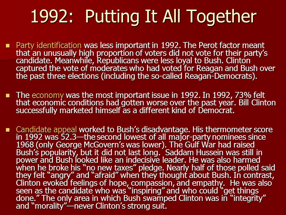 1992: Putting It All Together