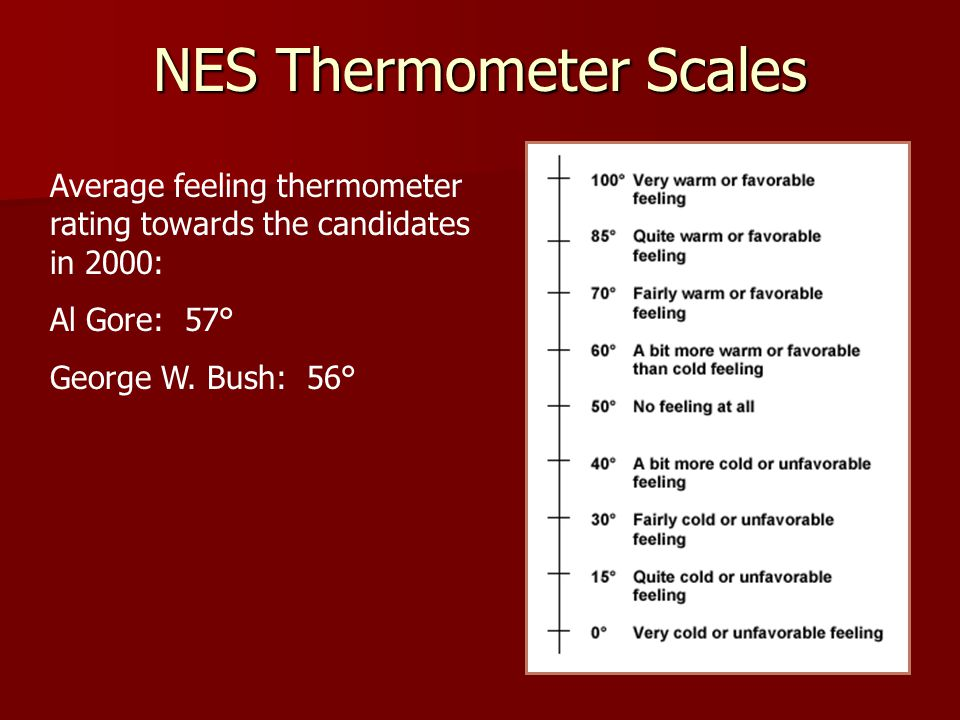 NES Thermometer Scales