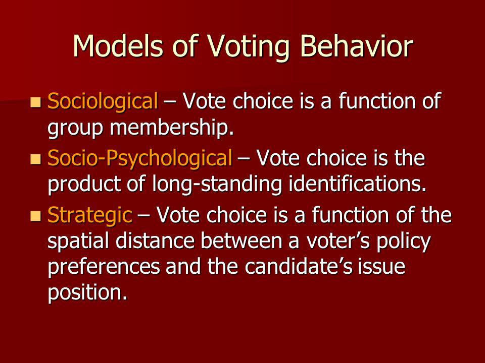 Models of Voting Behavior