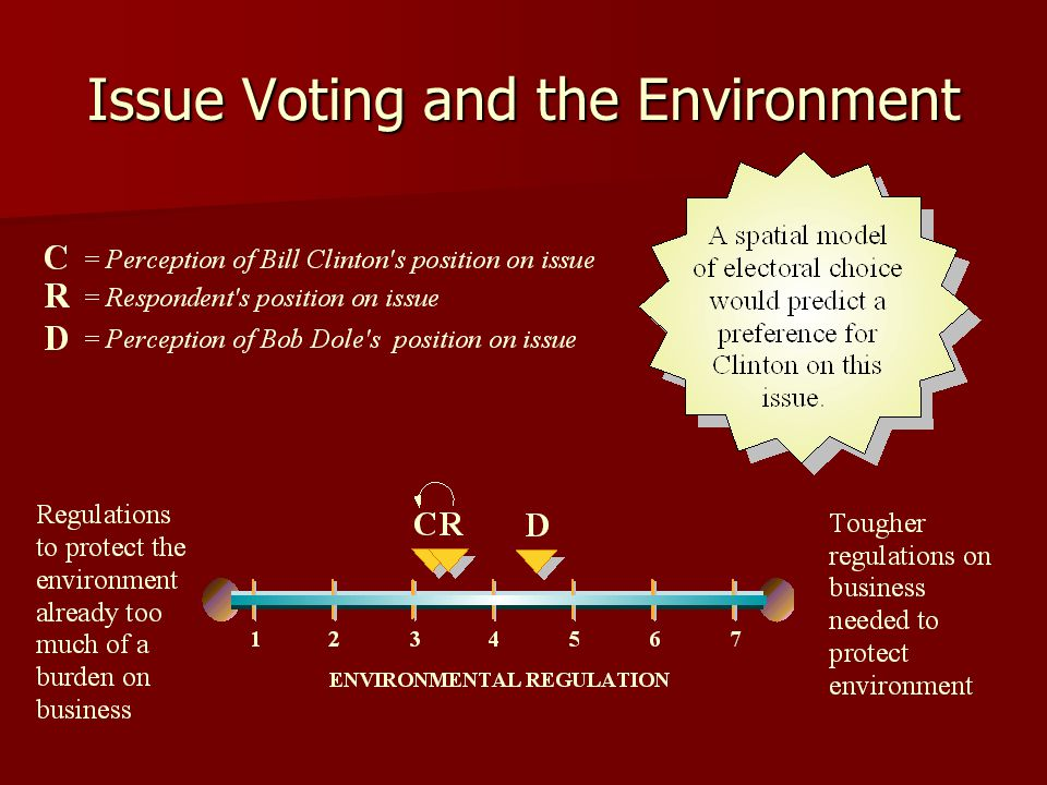 Issue Voting and the Environment