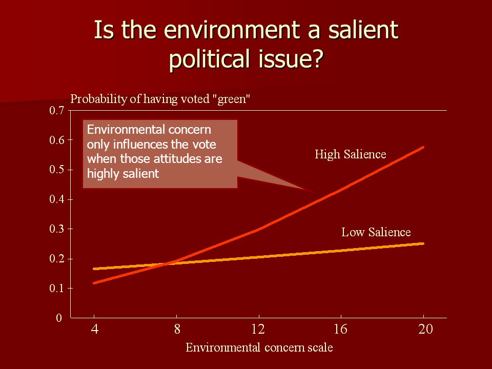 Is the environment a salient political issue