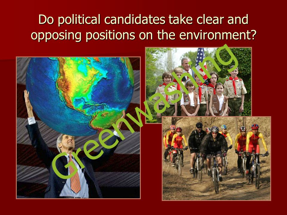 Do political candidates take clear and opposing positions on the environment