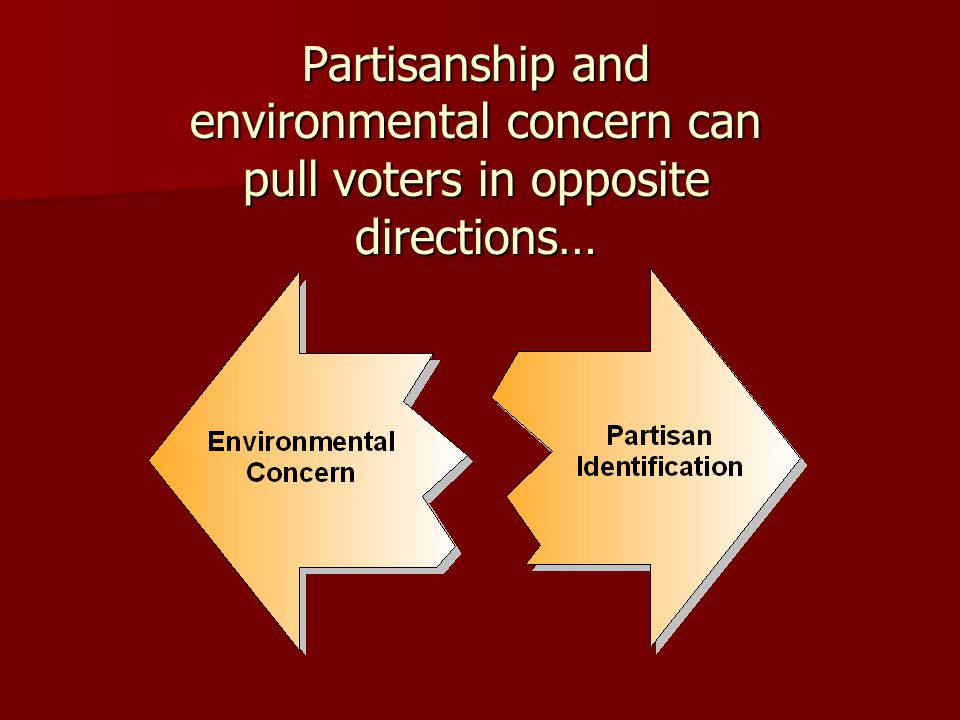Partisanship and environmental concern can pull voters in opposite directions…