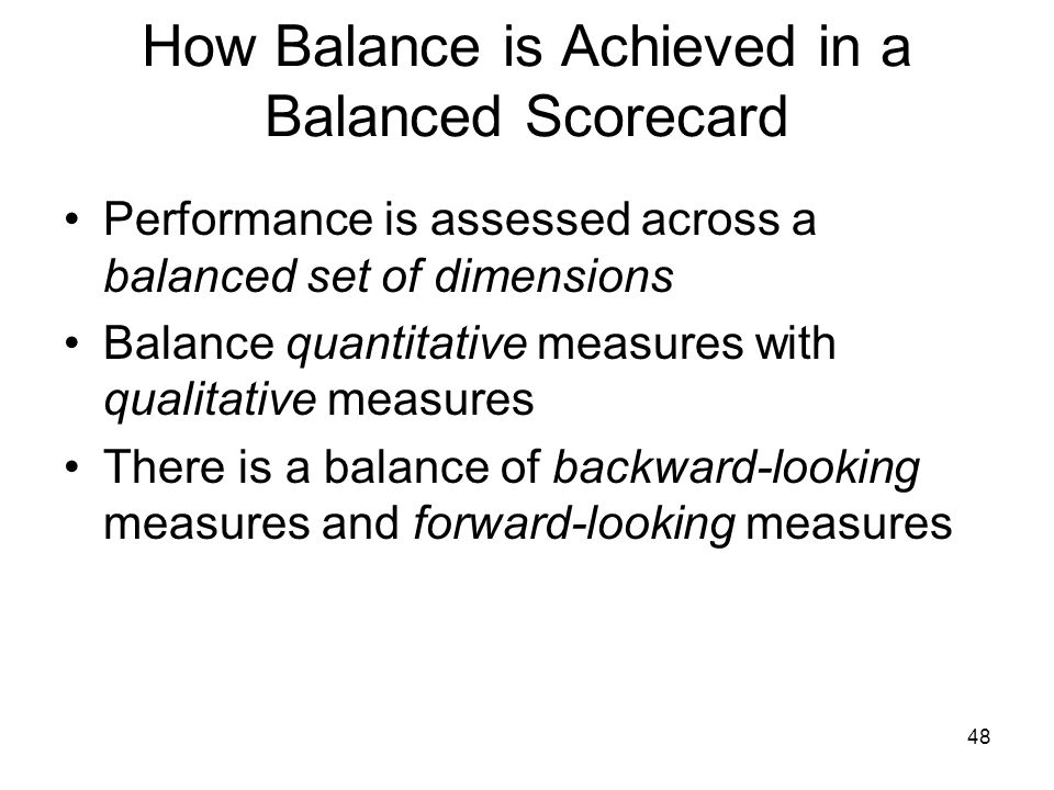 How Balance is Achieved in a Balanced Scorecard