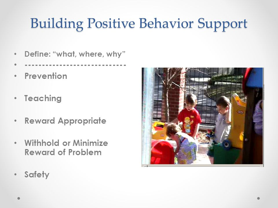 Building Positive Behavior Support