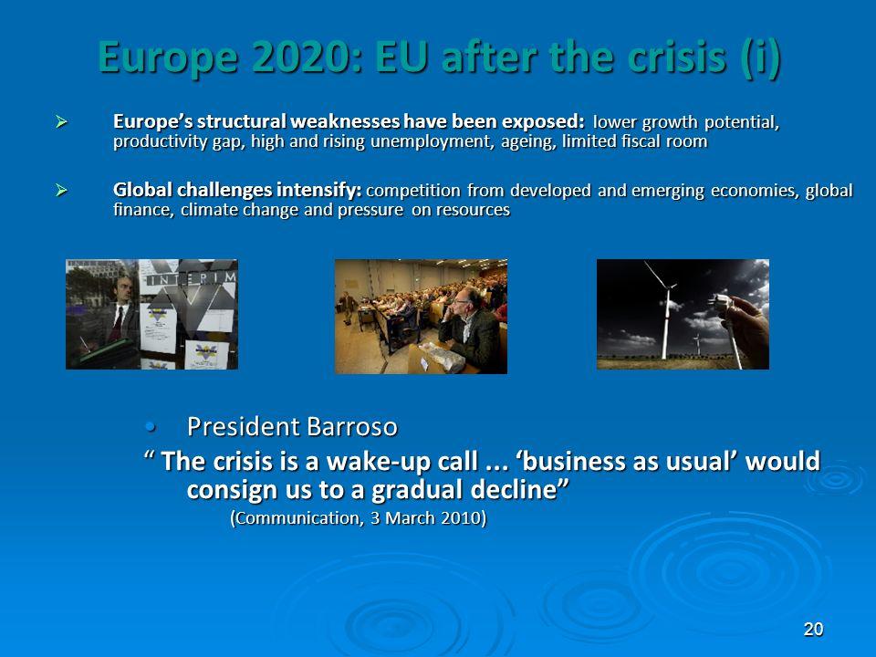 Europe 2020: EU after the crisis (i)