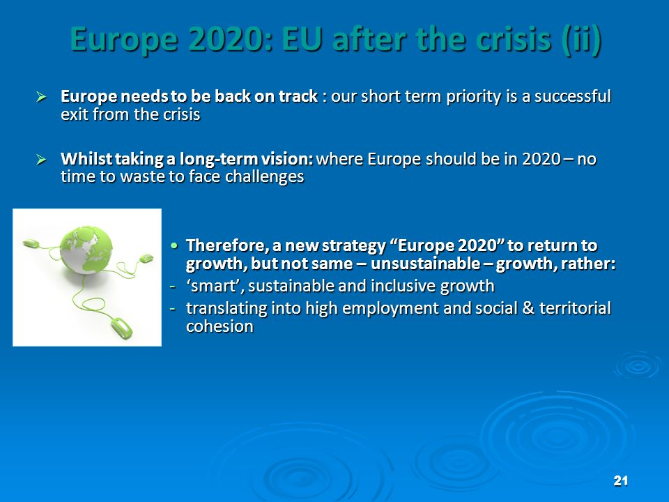 Europe 2020: EU after the crisis (ii)