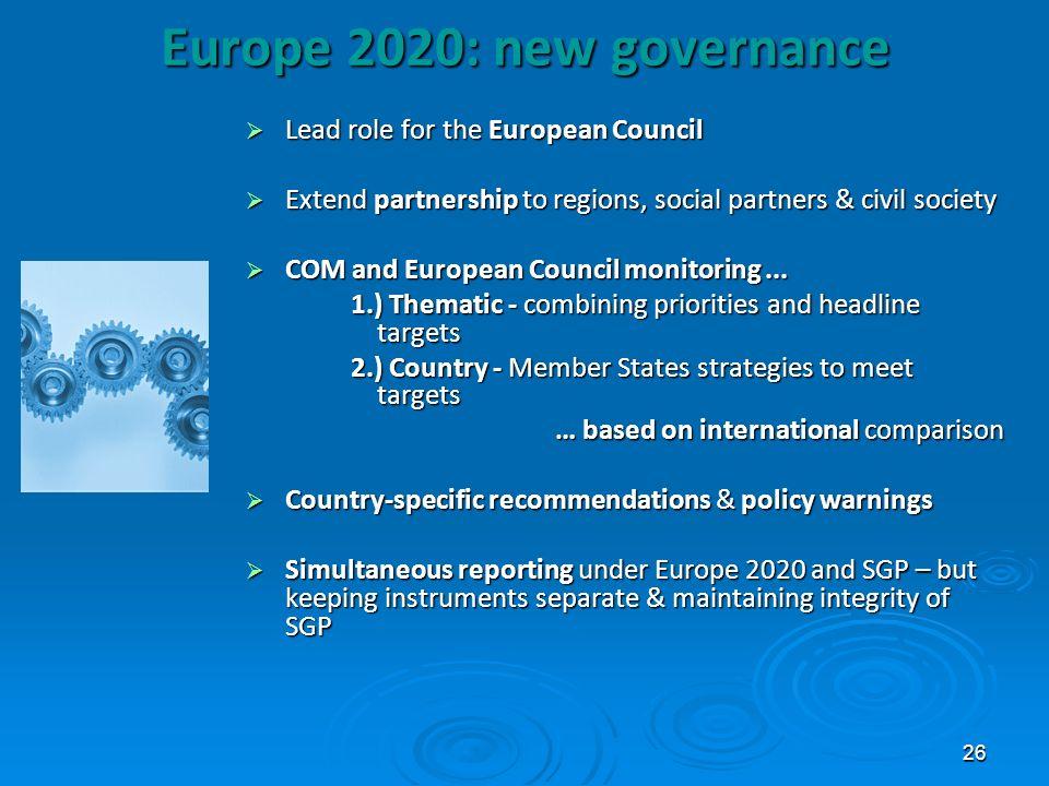 Europe 2020: new governance