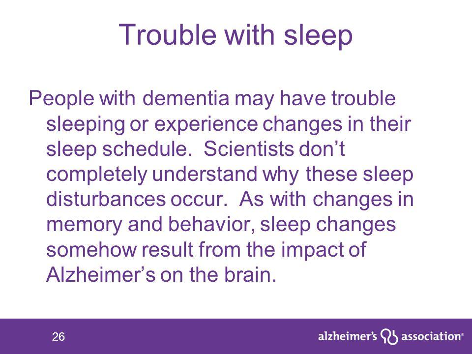 Trouble with sleep
