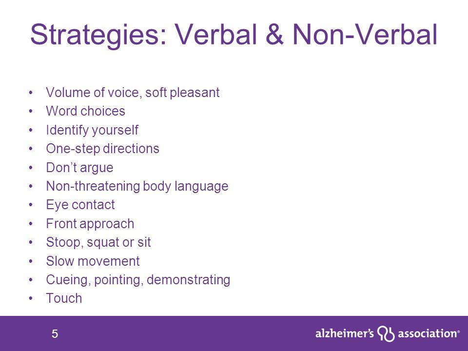 Strategies: Verbal & Non-Verbal