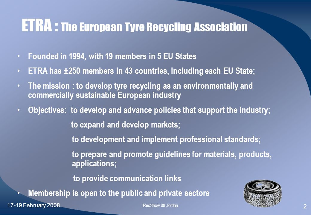 ETRA : The European Tyre Recycling Association