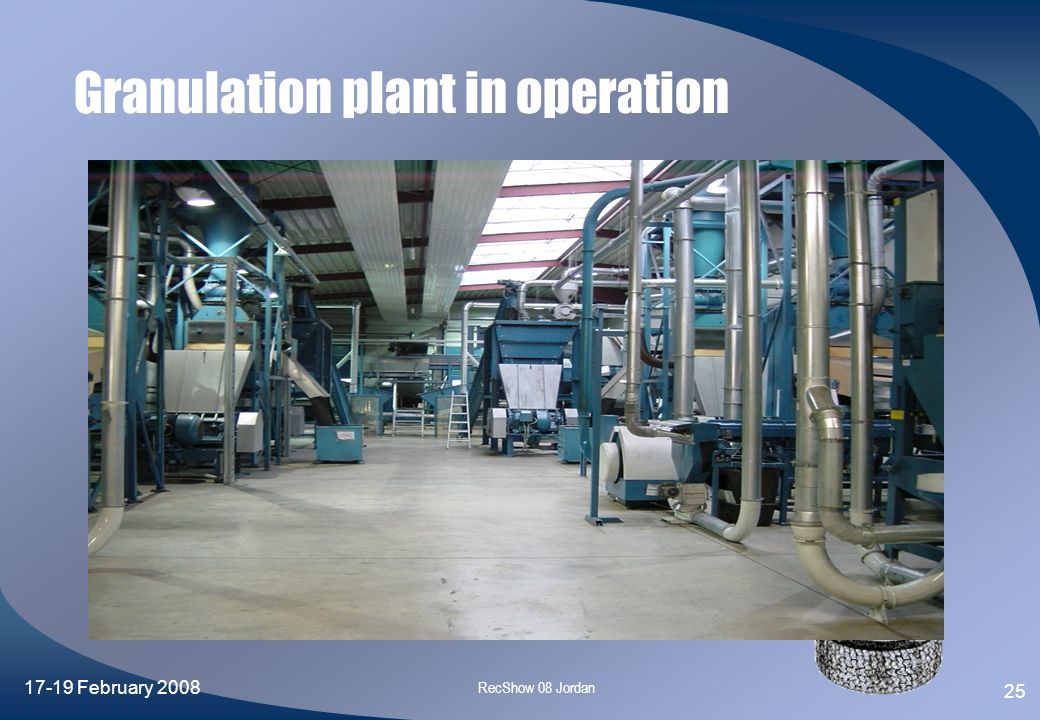 Granulation plant in operation