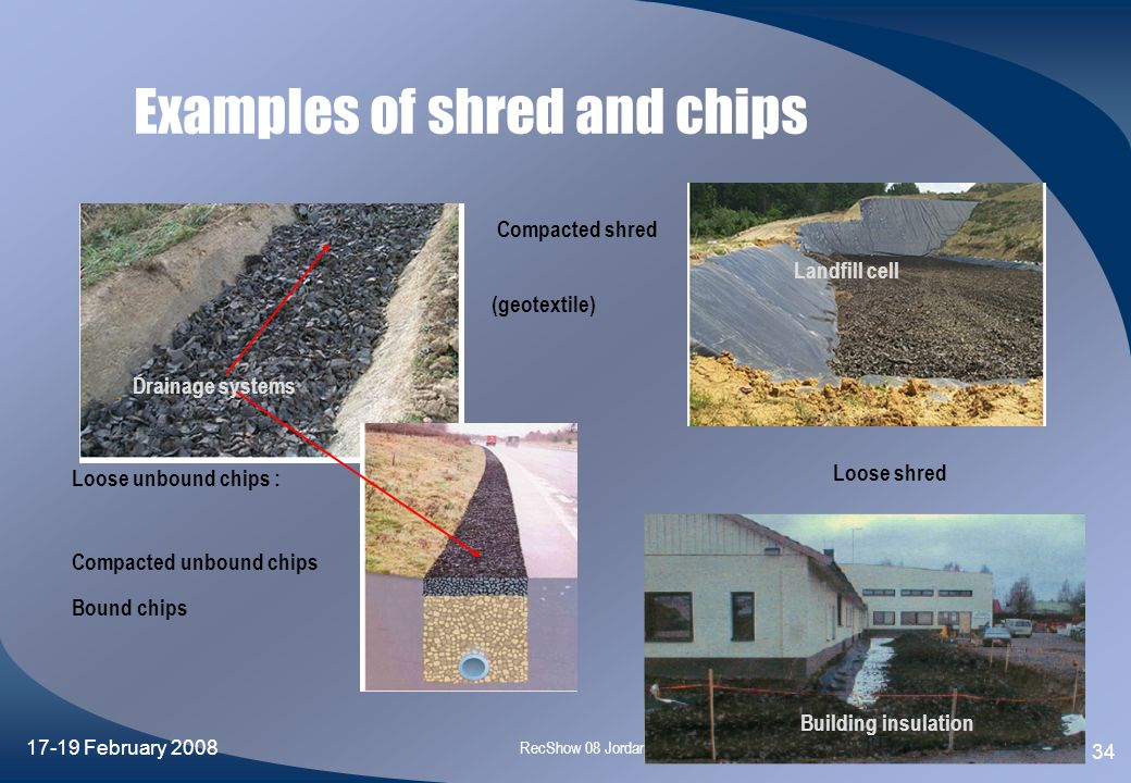 Examples of shred and chips