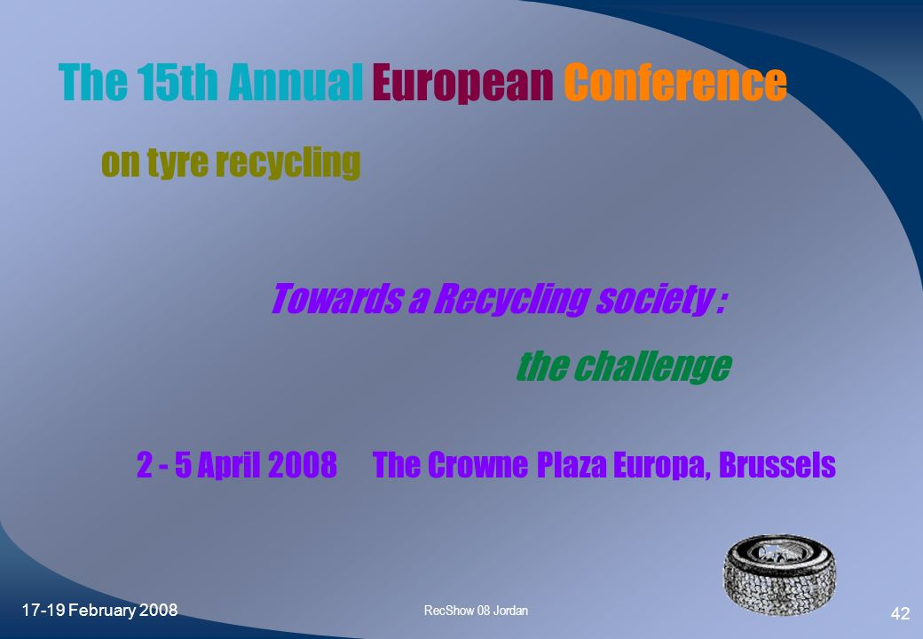 The 15th Annual European Conference