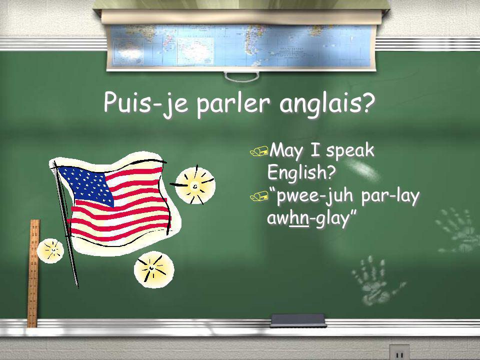 Puis-je parler anglais