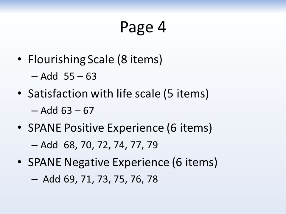 Page 4 Flourishing Scale (8 items)