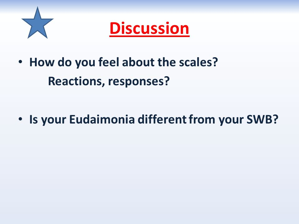 Discussion How do you feel about the scales Reactions, responses