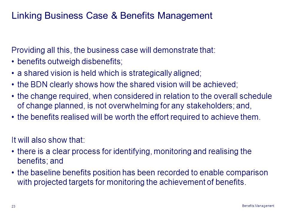 Linking Business Case & Benefits Management